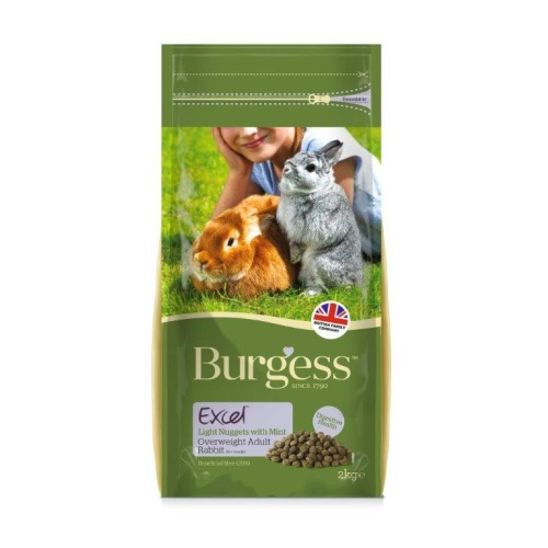 Burgess Excel Nuggets With Mint Light/Overweight Rabbit Food