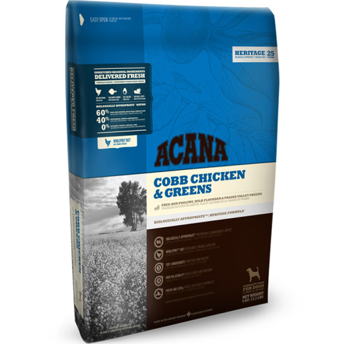 Acana Heritage Cobb Chicken & Greens Adult Dog Food 11.4kg