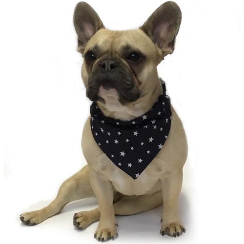 Dapper Pets Blue Star Dogs Indiana Bandana Extra Small / Small