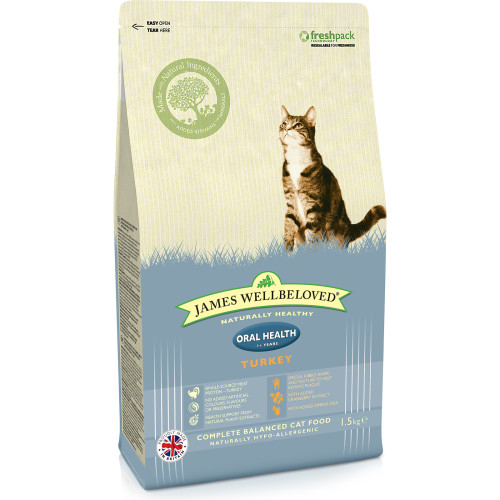 James Wellbeloved Oral Health Turkey Adult Cat Food