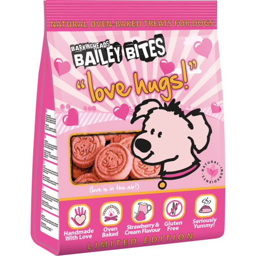Barking Heads Bailey Bites Love Hugs Dog Treats 200g