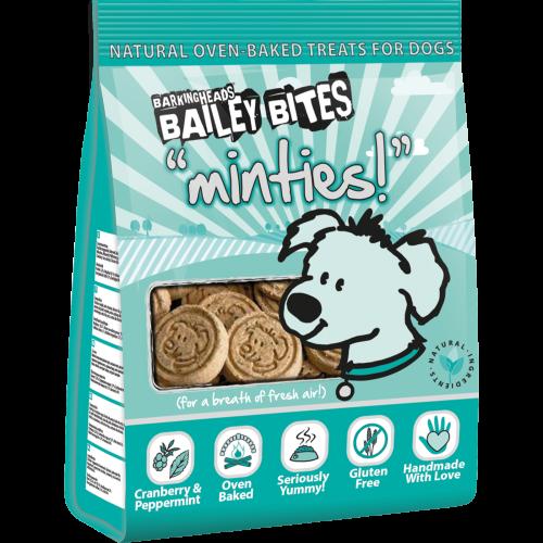 Barking Heads Bailey Bites Minties Natural Dog Treats 200g
