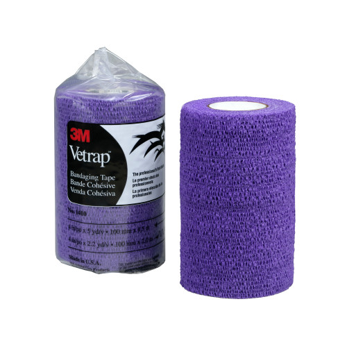 3M Vetrap Bandage Purple 100 Pack 10cm