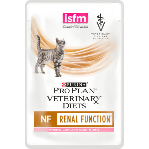 PURINA VETERINARY DIETS Feline NF Renal Function Cat Food 85g x 10 Pouches with Salmon