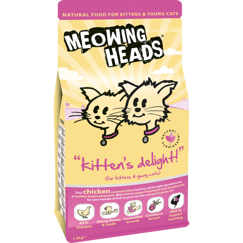 Meowing Heads Kittens Delight Kitten Food 1.5kg