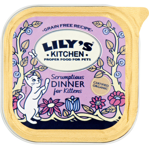 Lilys Kitchen Organic Scrumptious Dinner for Kittens Complete Wet Food for Cats