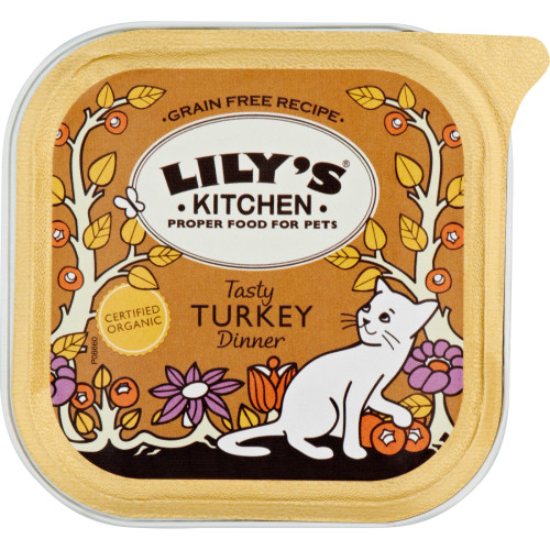 Lilys Kitchen Organic Tasty Turkey Dinner Complete Wet Food for Cats