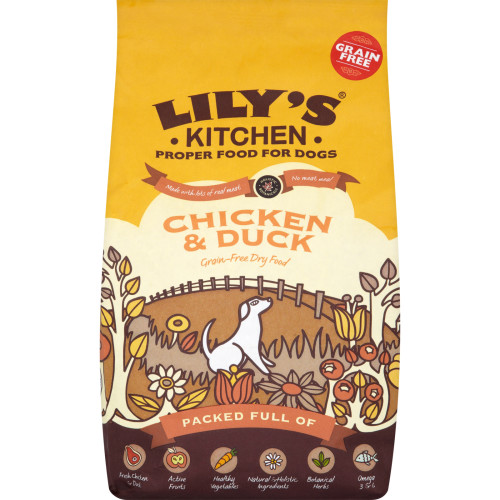 Lilys Kitchen Chicken & Duck Complete Dry Food for Dogs