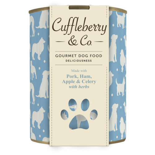Cuffleberry & Co Pork Ham Apple & Celery Adult Dog Food 400g x 6