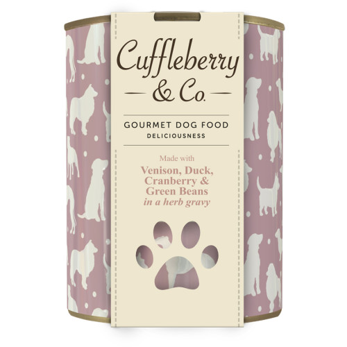 Cuffleberry & Co Venison Duck Cranberry & Green Beans Adult Dog Food 400g x 6