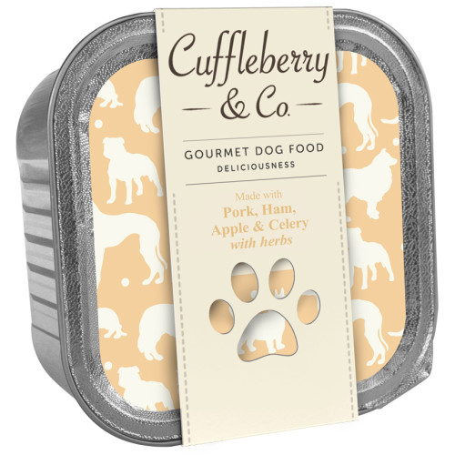 Cuffleberry & Co Pork Ham Apple & Celery Adult Dog Food 150g x 10