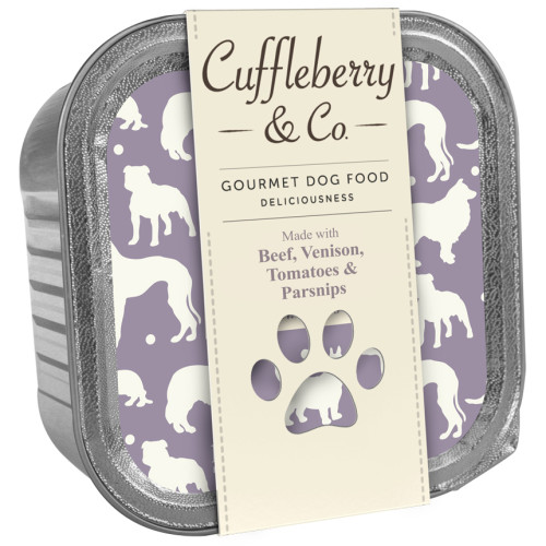 Cuffleberry & Co Beef Venison Tomatoes & Parsnips Adult Dog Food 150g x 10
