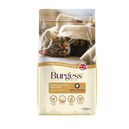 Burgess Complete Chicken & Duck Adult Cat Food