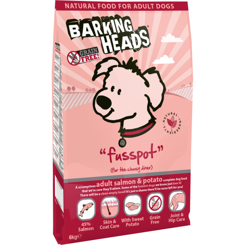 Barking Heads Fusspot Salmon & Potato Adult Dog Food 6kg