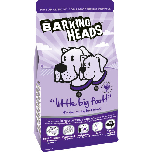 Barking Heads Little Big Foot Large Breed Puppy Dog Food