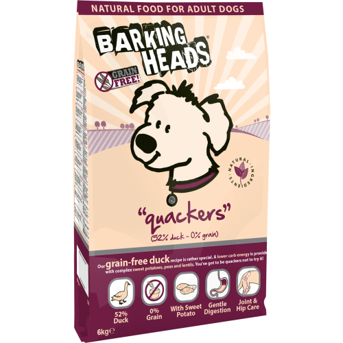 Barking Heads Quackers Grain Free Duck Adult Dog Food 12kg