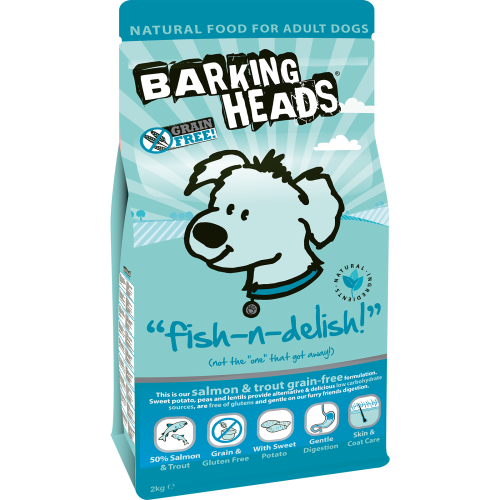 Barking Heads Fish n Delish Grain Free Adult Dog Food 2kg