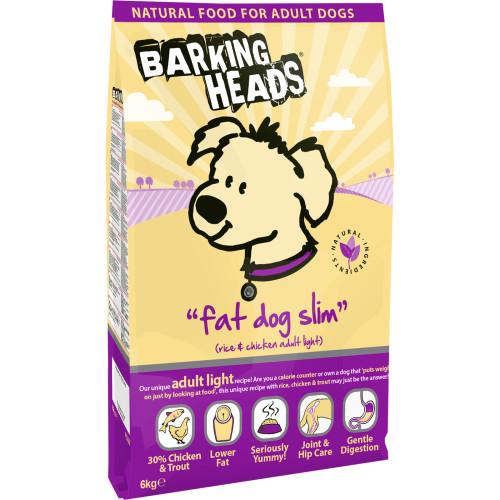 Barking Heads Fat Dog Slim Adult Chicken & Rice Dog Food