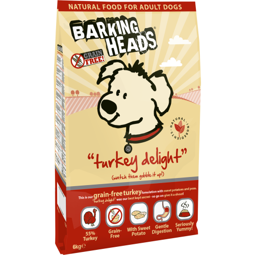 Barking Heads Turkey Delight Grain Free Adult Dog Food 12kg