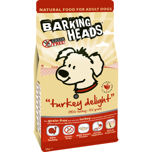 Barking Heads Turkey Delight Grain Free Adult Dog Food 2kg
