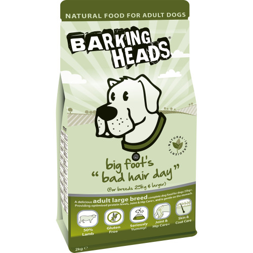 Barking Heads Big Foot Bad Hair Day Lamb Large Adult Dog Food