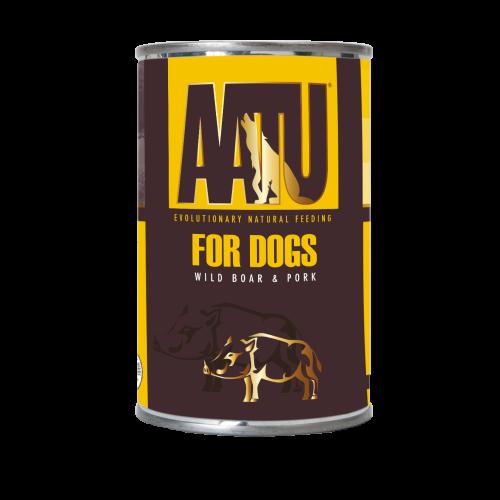 AATU Wild Boar & Pork Wet Dog Food 400g x 18