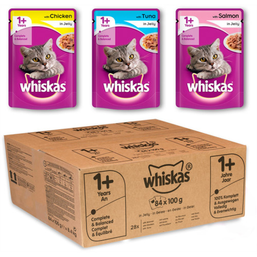 Whiskas 1+ Mixed Selection in Jelly Wet Adult Cat Food Pouch