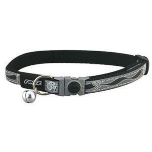 Rogz Catz GlowCat Black Reflective Cat Collar