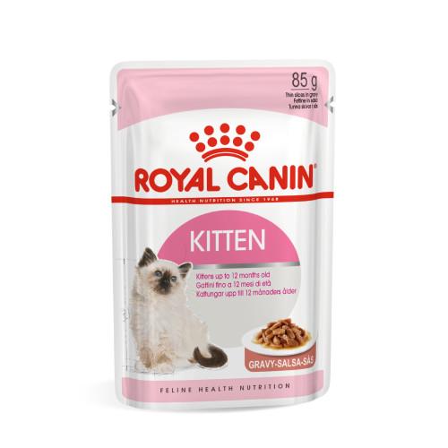 Royal Canin Health Nutrition Kitten Instinctive in Gravy Kitten Food 85g x 12