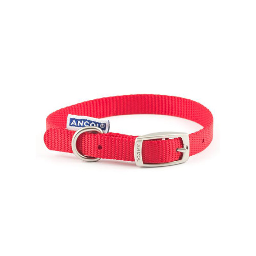 Ancol Heritage Nylon Dog Collar Red