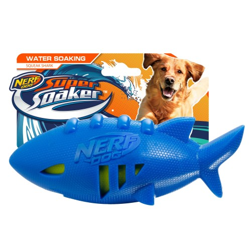 NERF Shark Squeaker Super Soaker Dog Toy