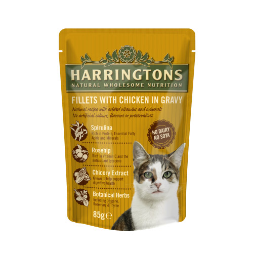 Harringtons Complete Pouches In Gravy Adult Cat Food