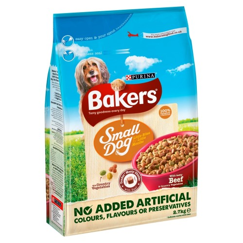 Bakers Complete Beef & Vegetable Small Breed Adult Dog Food