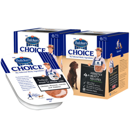 Butchers Choice Meaty Recipes Multipack Adult Dog Food Tray