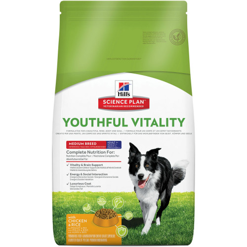 Hills Science Plan Canine Youthful Vitality Adult & Senior 7+ Medium Chicken