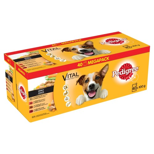 Pedigree Mixed Selection in Gravy Wet Adult Dog Food Pouch