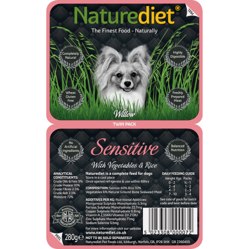 Naturediet Salmon Vegetables & Rice Sensitive Dog Food