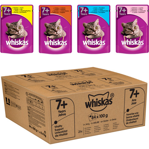 Whiskas 7+ Mixed Selection in Jelly Wet Senior Cat Food Pouch