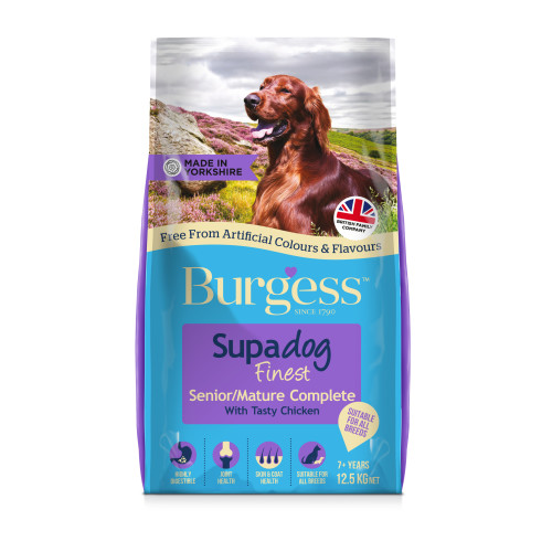 Burgess Supadog Complete Mature Chicken Senior Dog Food