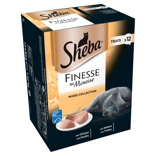 Sheba Finesse Mixed Collection Cat Trays