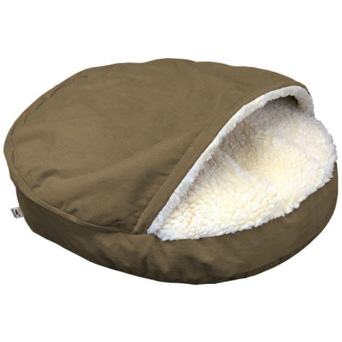 Snoozer Luxury Cozy Cave Dog Bed Peat