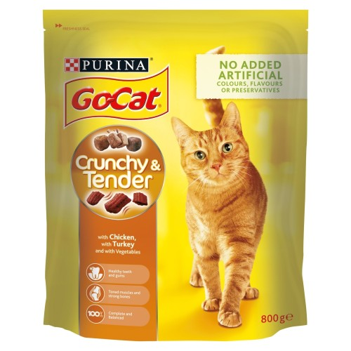 Go-Cat Crunchy Chicken Turkey & Vegetables Cat Food