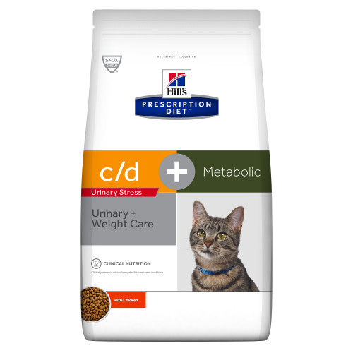 Hills Prescription Diet CD Urinary Stress + Metabolic Dry Cat Food Chicken 4kg