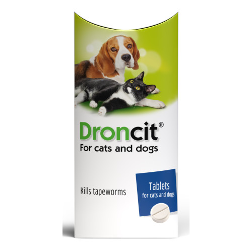 Droncit Tapewormer Tablets for Cats & Dogs 50mg - 5 Tablets