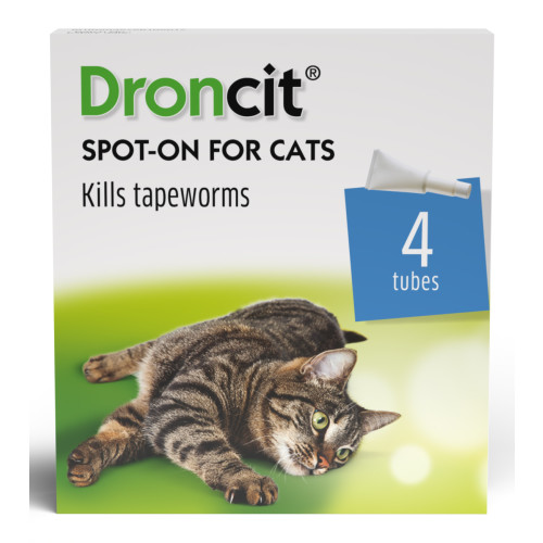 Droncit Spot On Tapewormer Wormer for Cats 20mg - 20 Pipettes
