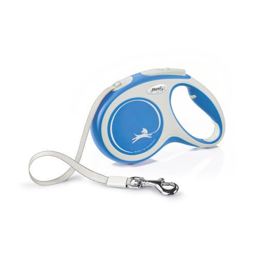 Flexi New Comfort 5m Tape Dog Lead in Blue Medium