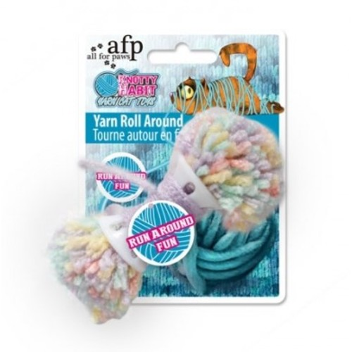 All For Paws Knotty Habit Yarn Roll Around Cat Toy Yarn Roll