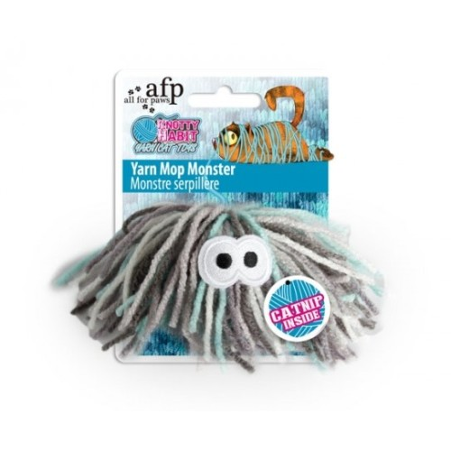 All For Paws Knotty Habit Yarn Mop Monster Cat Toy Mop Monster