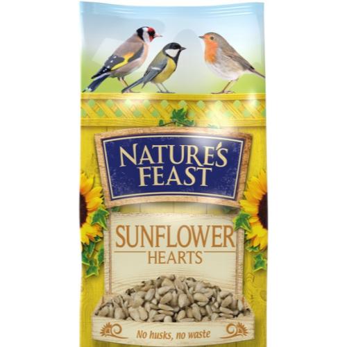 Natures Feast Premium Sunflower Hearts Wild Bird Food 12.75kg