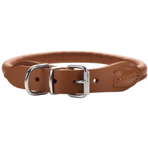 Hunter Round And Soft Elk Leather Dog Collar